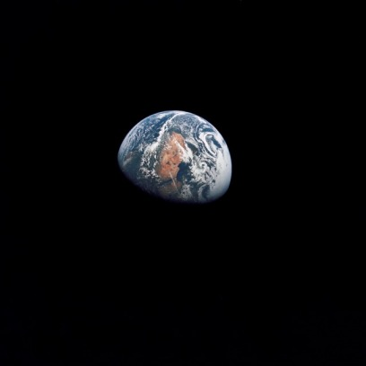 Apollo 10 image of Earth taken from 100,000 miles.  [Credit: NASA]
