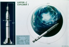 Explorer-1, that discovered the Van Allen Radiation Belts in 1958.  [Credit: NASA/MSFC]